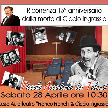 Ricorrenza 15° anniversario dalla morte di Ciccio Ingrassia