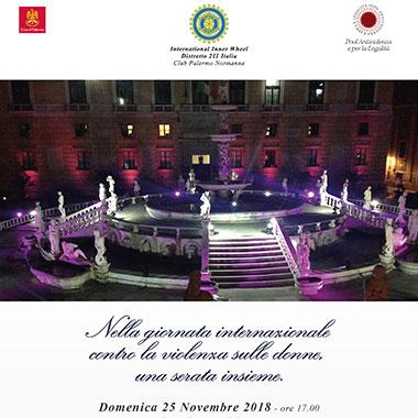Nella giornata internazionale contro la violenza sulle donne, una serata insieme