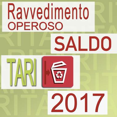 TARI 2017   Ravvedimento Operoso Rata Saldo