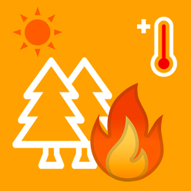 Allerta ARANCIONE per rischio incendi domani 11 giugno.
