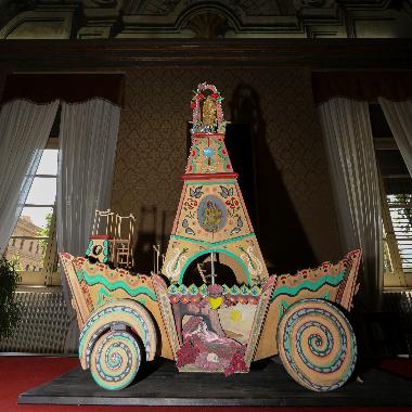 Cerimonia di affidamento del modello del Carro Trionfale di Santa Rosalia al Comune di Palermo