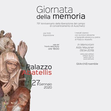 Giornata della Memoria 27 gennaio alla Galleria Regionale della Sicilia di Palazzo Abatellis