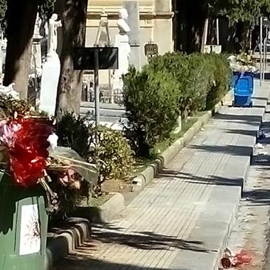 Danneggiata la barriera paramassi a protezione del Cimitero dei Rotoli - Sindaco emana ordinanza per inibire l'accesso ad alcune sezioni a monte della via Madonna del Consiglio