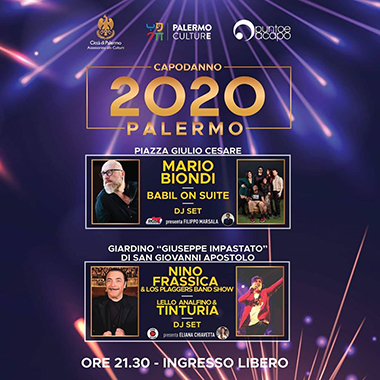 Informazioni per accesso alle aree del concerto di capodanno piazza Giulio Cesare e Giardino Peppino Impastato al Cep