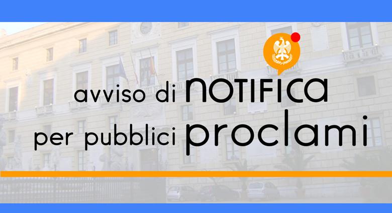 Avviso di notifica per pubblici proclami