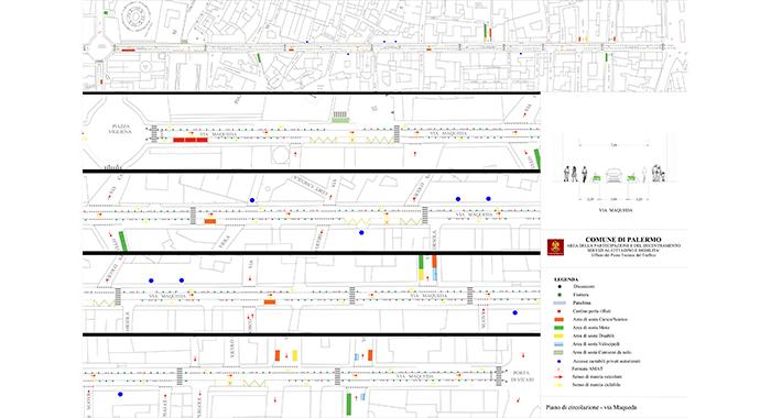 Pedonalizzazioni e vivibilità - Aree ciclopedonali in via Maqueda