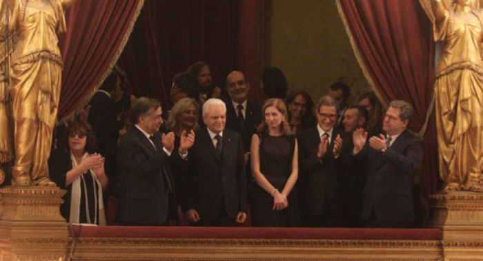 Ieri la prima per La bohème al Teatro Massimo di Palermo alla presenza del Capo dello Stato.