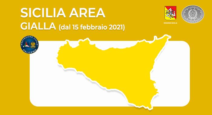 Sicilia Zona Gialla dal 15 febbraio