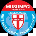 MUSUMECI PRESIDENTE SICILIA VERA LIBERTAS RETE DEMOCRATICA UNIONE DI CENTRO