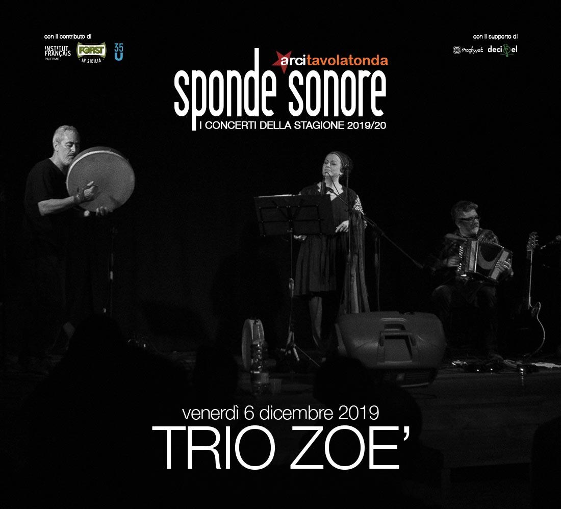 Immagine - Sponde Sonore 2019/20 - TRIO ZOÈ