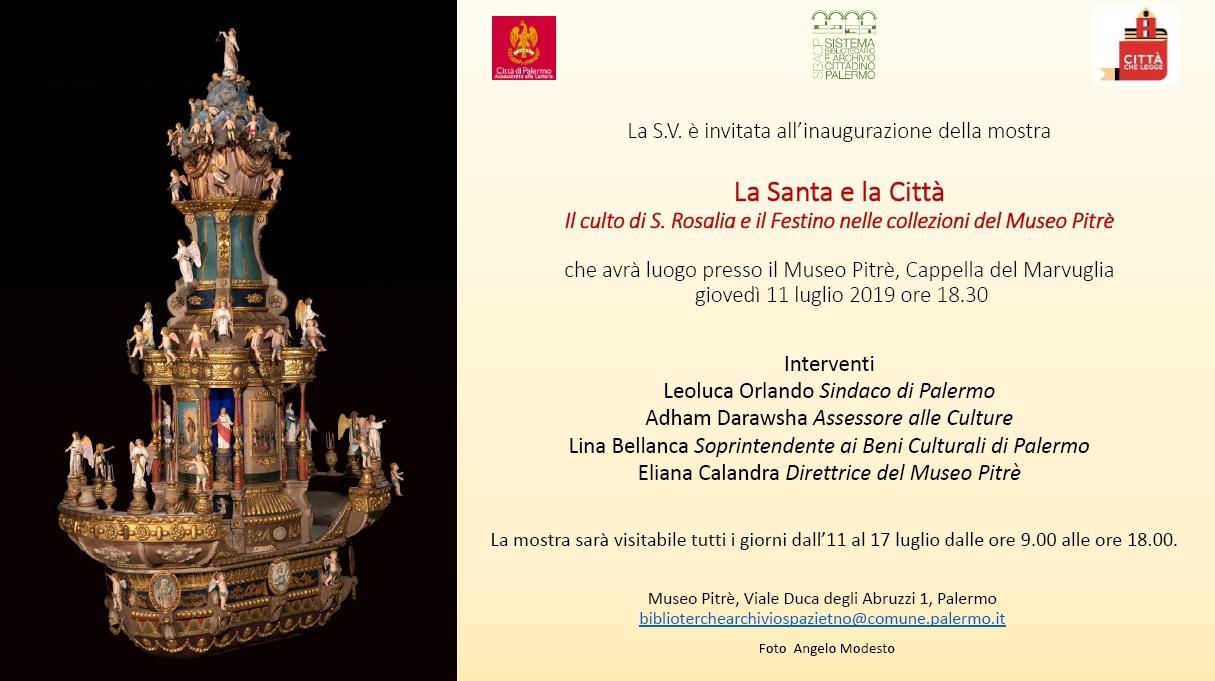 Immagine -  La Santa e la Città, il culto di S. Rosalia e il Festino nelle collezioni del Museo Pitrè