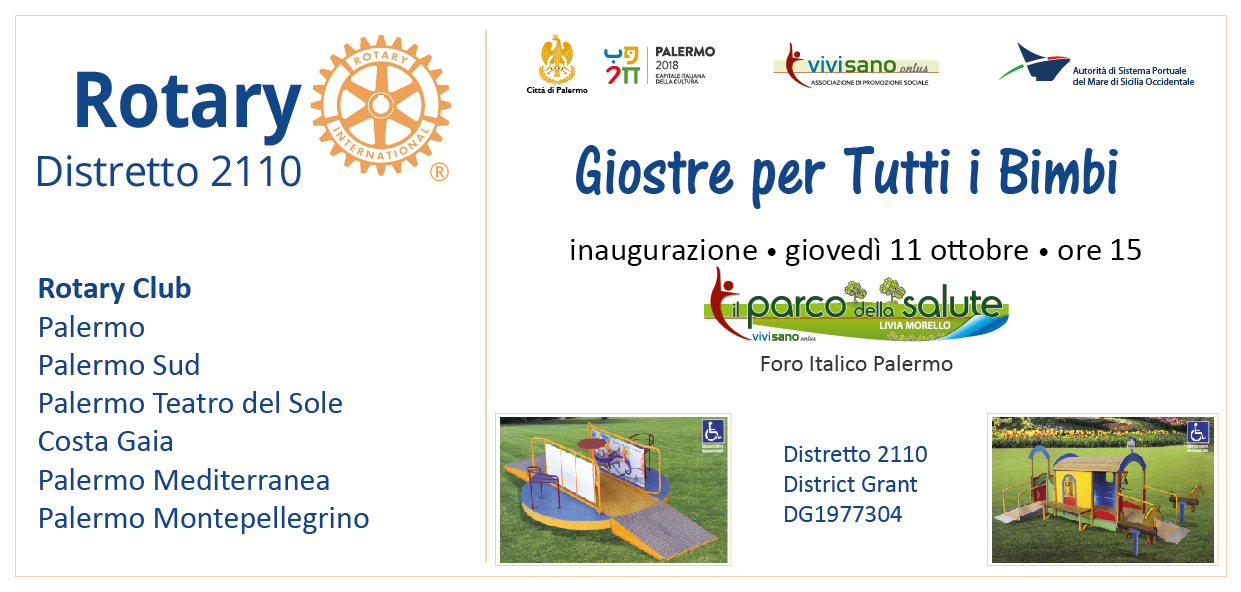 Comune Di Palermo Giostre Per Tutti I Bimbi Domani Alle 15 L