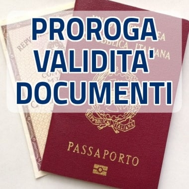 Proroga della scadenza dei documenti d'identità e di riconoscimento italiani